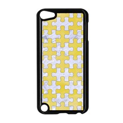 Puzzle1 White Marble & Yellow Watercolor Apple Ipod Touch 5 Case (black) by trendistuff