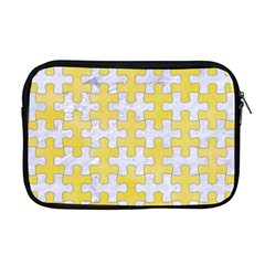 Puzzle1 White Marble & Yellow Watercolor Apple Macbook Pro 17  Zipper Case by trendistuff