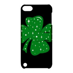 Sparkly Clover Apple Ipod Touch 5 Hardshell Case With Stand by Valentinaart