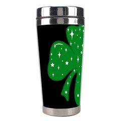 Sparkly Clover Stainless Steel Travel Tumblers by Valentinaart