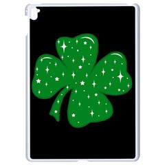 Sparkly Clover Apple Ipad Pro 9 7   White Seamless Case by Valentinaart