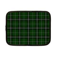 Green Plaid Pattern Netbook Case (small)  by Valentinaart