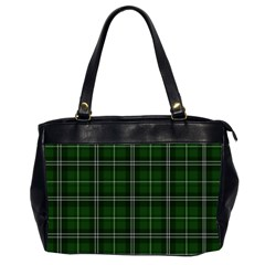 Green Plaid Pattern Office Handbags (2 Sides)  by Valentinaart