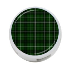 Green Plaid Pattern 4 Port Usb Hub (two Sides)