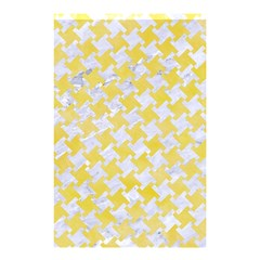 Houndstooth2 White Marble & Yellow Watercolor Shower Curtain 48  X 72  (small)  by trendistuff