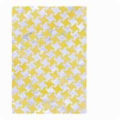 Houndstooth2 White Marble & Yellow Watercolor Small Garden Flag (two Sides) by trendistuff