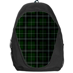Green Plaid Pattern Backpack Bag