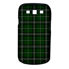 Green Plaid Pattern Samsung Galaxy S Iii Classic Hardshell Case (pc+silicone) by Valentinaart
