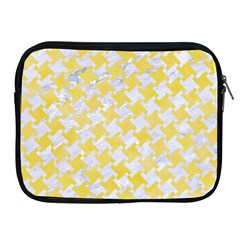 Houndstooth2 White Marble & Yellow Watercolor Apple Ipad 2/3/4 Zipper Cases by trendistuff