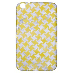 Houndstooth2 White Marble & Yellow Watercolor Samsung Galaxy Tab 3 (8 ) T3100 Hardshell Case  by trendistuff