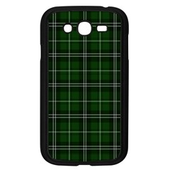 Green Plaid Pattern Samsung Galaxy Grand Duos I9082 Case (black) by Valentinaart