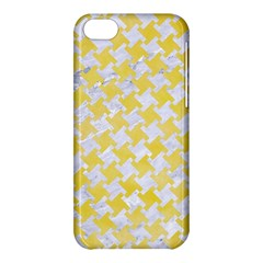 Houndstooth2 White Marble & Yellow Watercolor Apple Iphone 5c Hardshell Case by trendistuff
