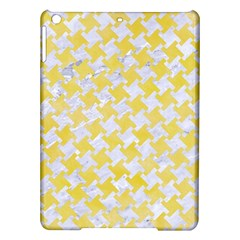 Houndstooth2 White Marble & Yellow Watercolor Ipad Air Hardshell Cases by trendistuff