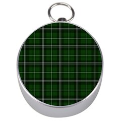 Green Plaid Pattern Silver Compasses by Valentinaart