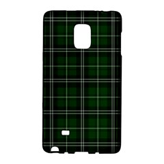 Green Plaid Pattern Galaxy Note Edge by Valentinaart