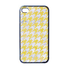 Houndstooth1 White Marble & Yellow Watercolor Apple Iphone 4 Case (black) by trendistuff