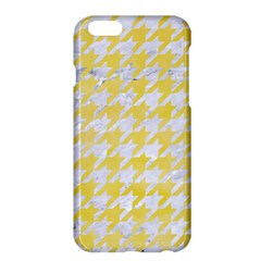 Houndstooth1 White Marble & Yellow Watercolor Apple Iphone 6 Plus/6s Plus Hardshell Case by trendistuff