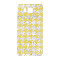 Houndstooth1 White Marble & Yellow Watercolor Samsung Galaxy Alpha Hardshell Back Case by trendistuff