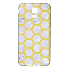 Hexagon2 White Marble & Yellow Watercolor (r) Samsung Galaxy S5 Back Case (white) by trendistuff