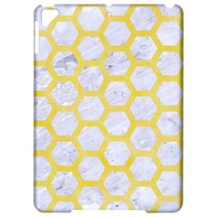 Hexagon2 White Marble & Yellow Watercolor (r) Apple Ipad Pro 9 7   Hardshell Case by trendistuff