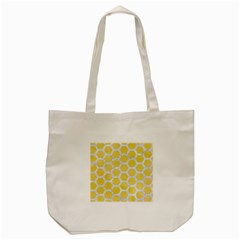 Hexagon2 White Marble & Yellow Watercolor Tote Bag (cream) by trendistuff