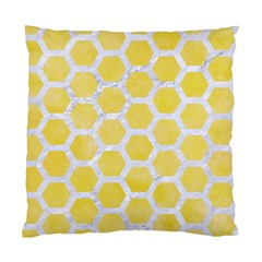 Hexagon2 White Marble & Yellow Watercolor Standard Cushion Case (two Sides) by trendistuff