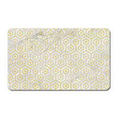 Hexagon1 White Marble & Yellow Watercolor (r) Magnet (rectangular) by trendistuff