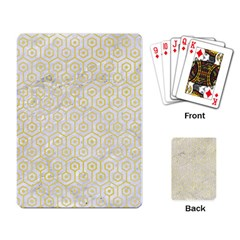 Hexagon1 White Marble & Yellow Watercolor (r) Playing Card by trendistuff