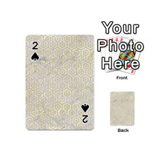 Hexagon1 White Marble & Yellow Watercolor (r) Playing Cards 54 (mini)  by trendistuff