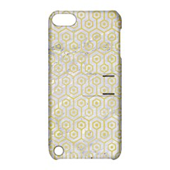 Hexagon1 White Marble & Yellow Watercolor (r) Apple Ipod Touch 5 Hardshell Case With Stand by trendistuff