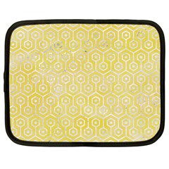 Hexagon1 White Marble & Yellow Watercolor Netbook Case (xl)
