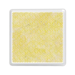 Hexagon1 White Marble & Yellow Watercolor Memory Card Reader (square)  by trendistuff