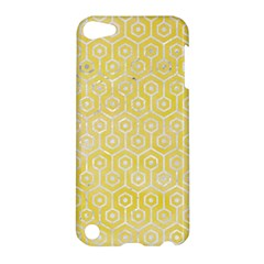 Hexagon1 White Marble & Yellow Watercolor Apple Ipod Touch 5 Hardshell Case by trendistuff