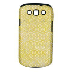 Hexagon1 White Marble & Yellow Watercolor Samsung Galaxy S Iii Classic Hardshell Case (pc+silicone)