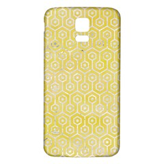 Hexagon1 White Marble & Yellow Watercolor Samsung Galaxy S5 Back Case (white) by trendistuff