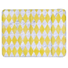 Diamond1 White Marble & Yellow Watercolor Samsung Galaxy Tab 7  P1000 Flip Case by trendistuff