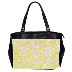 Damask2 White Marble & Yellow Watercolor Office Handbags (2 Sides)  by trendistuff