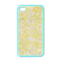 Damask2 White Marble & Yellow Watercolor Apple Iphone 4 Case (color) by trendistuff