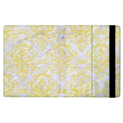Damask1 White Marble & Yellow Watercolor (r) Apple Ipad 3/4 Flip Case by trendistuff