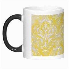 Damask1 White Marble & Yellow Watercolor Morph Mugs by trendistuff