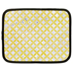Circles3 White Marble & Yellow Watercolor (r) Netbook Case (xxl)  by trendistuff
