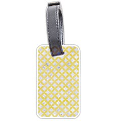 Circles3 White Marble & Yellow Watercolor (r) Luggage Tags (two Sides) by trendistuff