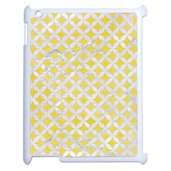 Circles3 White Marble & Yellow Watercolor Apple Ipad 2 Case (white) by trendistuff
