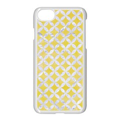 Circles3 White Marble & Yellow Watercolor Apple Iphone 7 Seamless Case (white) by trendistuff