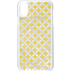 Circles3 White Marble & Yellow Watercolor Apple Iphone X Seamless Case (white)