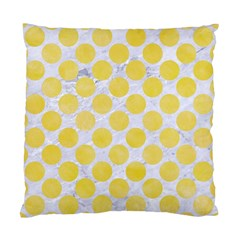 Circles2 White Marble & Yellow Watercolor (r) Standard Cushion Case (two Sides) by trendistuff