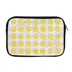 Circles1 White Marble & Yellow Watercolor (r) Apple Macbook Pro 17  Zipper Case by trendistuff
