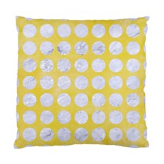 Circles1 White Marble & Yellow Watercolor Standard Cushion Case (two Sides) by trendistuff
