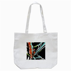 Multicolor Abstract Design Tote Bag (white) by dflcprints