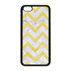 Chevron9 White Marble & Yellow Watercolor (r) Apple Iphone 5c Seamless Case (black) by trendistuff